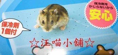 ☆汪喵小舖2店☆ 鼠鼠專區~日本 Marukan 倉鼠用保冷墊 // 附保冷劑 RH-570 需放冰箱