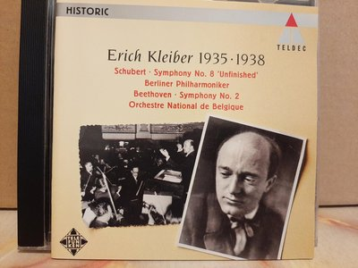 Erich Kleiber,Schubert- Sym No.8,Beethoven-Sym No.2,艾里希·克萊巴指揮演出舒伯特第八,貝多芬第二號交響曲。
