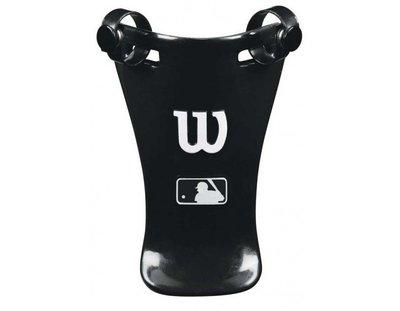 """美國進口 WILSON MLB 6"""" UMPIRE THROAT GUARD 主審裁判六吋面罩護喉黑白款"""