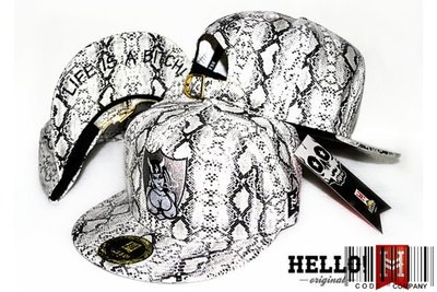 =CodE= 全新HELLO! SNAPBACKLIFE IS A BITCH 電繡蛇紋帽(白/黑).灰.JORDAN.爆乳.真品公司貨.HATER.免運費