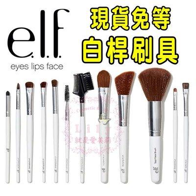 【愛美莉】E.L.F. Brush  白桿刷具 12件專業刷具組 蜜粉刷 腮紅刷  ELF ¢Lily就是愛美莉¢