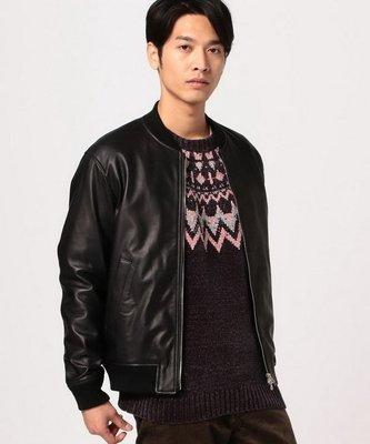 【傑森精品】日本 BEAMS 經典 棒球款 全皮 真皮 羊皮 皮衣 夾克 外套