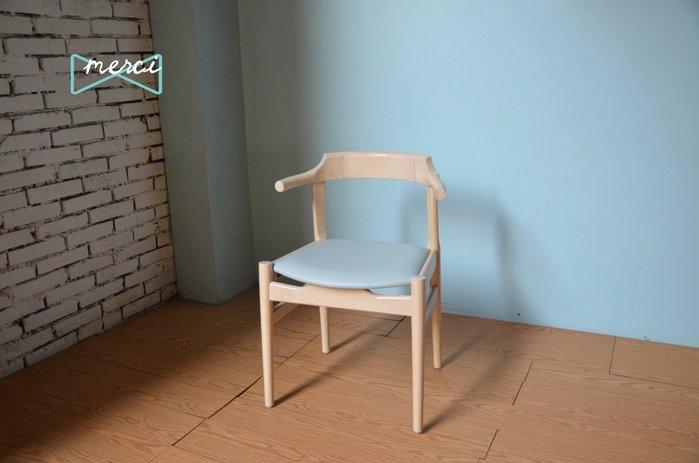美希嚴選 ARM CHAIRS PP58/Hans J. Wegner 扶手椅/北歐/餐椅/洗白色/babyblue