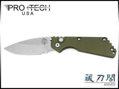 《藏刀閣》PRO-TECH-(2401-GR)Pro-Strider SnG-合作款綠色鋁柄彈簧刀