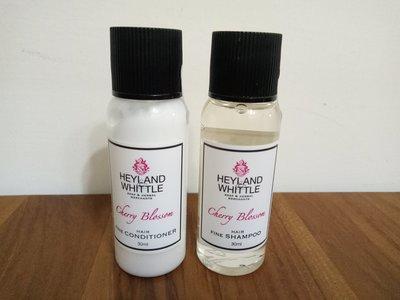 天使熊雜貨小舖~ HEYLAND&WHITTLE櫻花香氛洗髮露/潤髮乳組  30ml  全新現貨