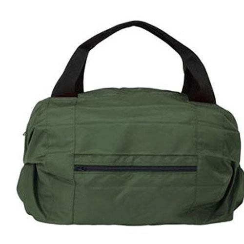 【東京速購】Shupatto 環保購物袋 大容量 輕巧 秒收 折疊購物包 波士頓包 手提 肩背包 行李箱旅行包 - 軍綠