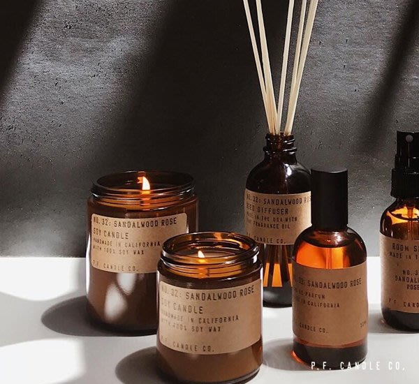 GOODFORIT / 加州 P.F. Candle Sandalwood Rose(檀香玫瑰)手工香氛蠟燭