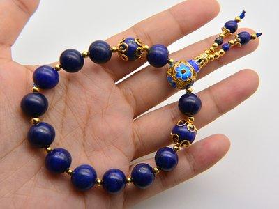 《青金石專區》《手鍊》青金石Lapis lazuli   設計款佛珠圓珠 手鍊 手珠