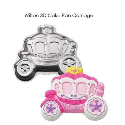 美國 Wilton 3D Cake Pan Carriage 夢幻 馬車 3D 蛋糕烤盤 新品