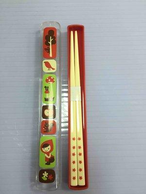 Decole小紅帽筷子附收納盒