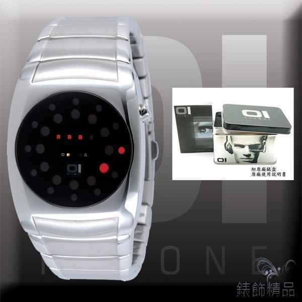 【錶飾精品】THE ONE/LED創新時計酷炫錶-圓形系統/黑面鋼帶LL102R2(小)全新正品公司貨