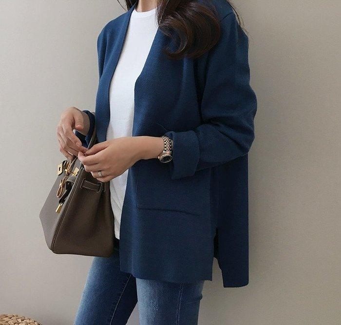 Gigi歐尼 韓國代購 正韓【 BH3176  】  V領立體口袋針織開襟外套 ( 2色)