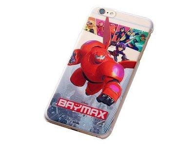 尼德斯Nydus~* 日本迪士尼 大英雄天團 大集合 杯麵 硬殼 透明側邊 手機殼 5.5吋 iPhone6+