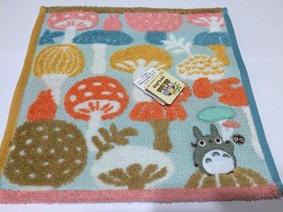 日本 彩色魔菇龍貓 小毛巾