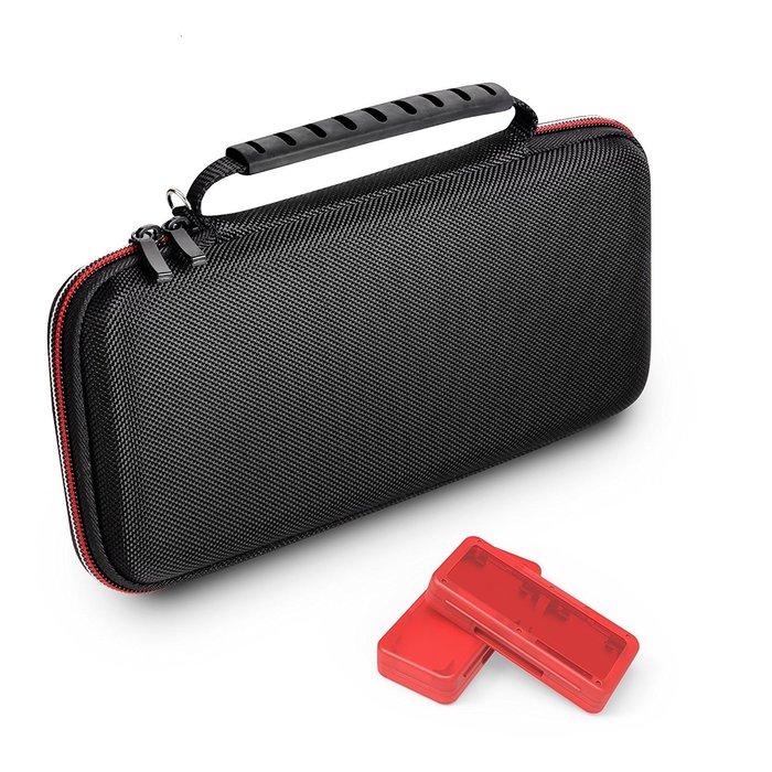 Switch用 美國原裝 GameWill 網紋包 雙拉鍊 硬殼包 防撞包 附可4入卡帶盒 耐磨材質【板橋魔力】