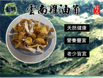 『雲野』雲南野生雞油菌乾貨(乾燥品,已剪腳篩選過,為出口歐洲的出口產品)只賣好品質!松茸菇 松露 花菇 可參考!