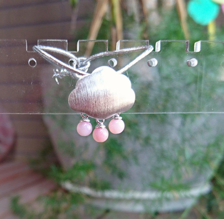 ~水晶花園~ *一陣粉紅色的雨*  滋養心輪,帶來轉變與力量  粉紅蛋白石墜子(不含鍊子)