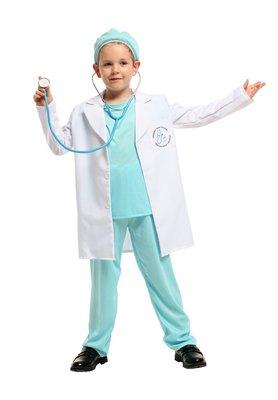 乂世界派對乂萬聖節服裝,萬聖節服飾,變裝派對,兒童變裝服-醫生袍/醫生白袍/帥氣小男醫