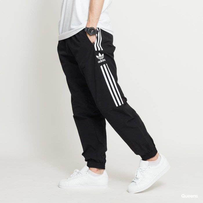 【吉米.tw】ADIDAS ORIGINALS WOVEN TP 長褲 黑色 三線 貼布 縮口 男 ED6097 AUG