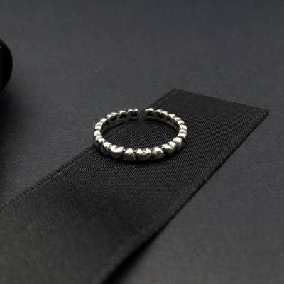 925純銀戒指 開口戒-古典淡雅心型設計生日情人節禮物女飾品73ic1[獨家進口][巴黎精品]