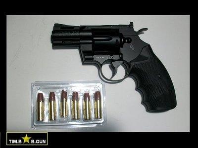 晶予玩具槍~KWC全金屬2.5吋派森PYTHON 357左輪槍CO2動力版M357復古黑色6MM手槍BB彈KC-66