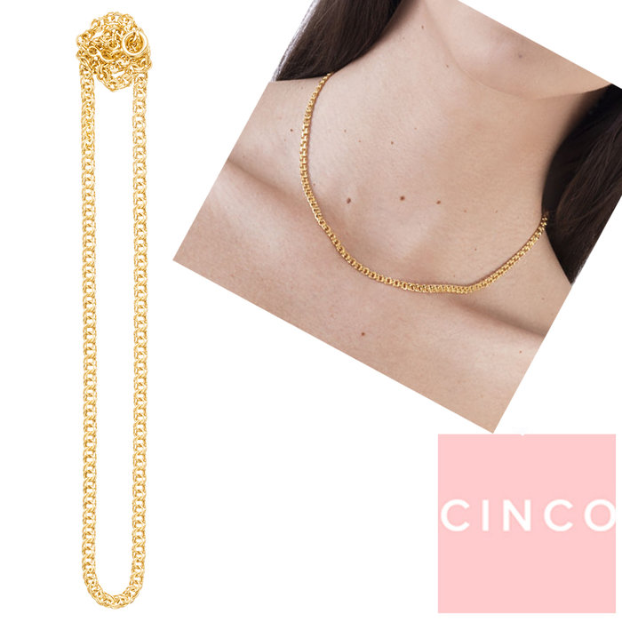 CINCO 葡萄牙精品 Rose choker 24K金頸鍊 鎖骨鍊