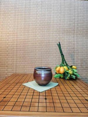 葉文先生早期上釉柴燒杯(特價36000元)