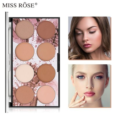 Molise美膚8-color waterproof, oil-contr現貨olling and concealer powder粉餅
