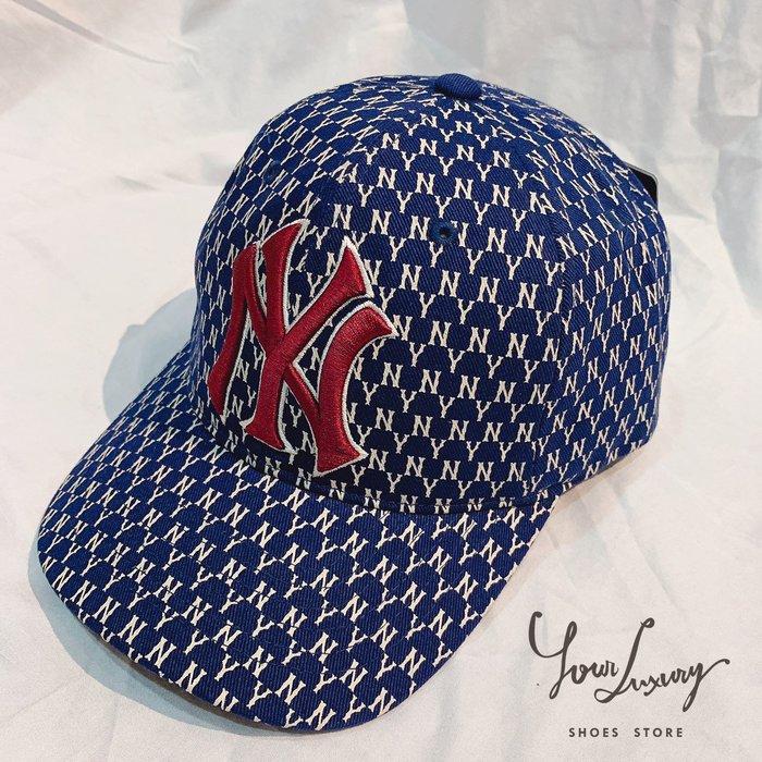 【Luxury】MLB 洋基 NY 棒球帽  男女 夏天 潮牌 帽子 老帽 Monogram圖案 5色 韓國代購 正品