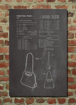 [復古藝術海報] - 2000年 Chanel女包設計專利圖|時尚 女性 [美國PatentPrint授權] 有現貨 新北市