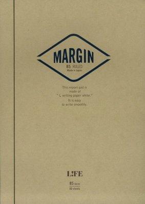 =小品雅集= 日本 LIFE MARGIN REPORT B5 上掀式筆記本(橫線)R762