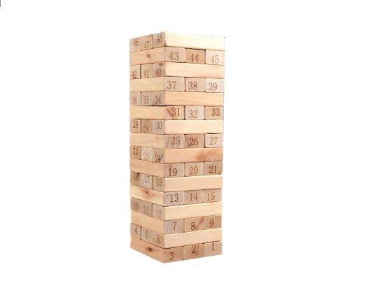 【晨豐商行】【木製疊疊樂】 大號數字疊疊高.原木平衡積木.教育益智遊戲. 機智耐心與平衡訓練/附4個骰子