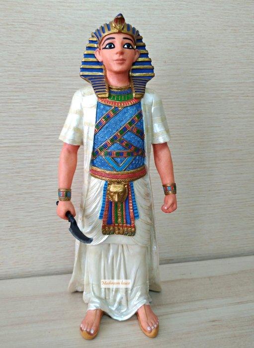點點蘑菇屋 歐洲精品彩繪埃及法老王擺飾 精緻飾品 藝術品 家飾品 古埃及古文 圖騰 Egypt 現貨