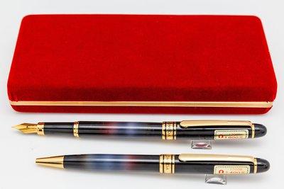 【Penworld】台灣製 OMEGA亞米茄 1200鋼筆對筆 F尖