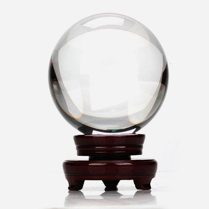 預售款--家居招財水晶球3-30厘米大小白高透明度水晶玻璃球客廳裝飾品擺件#相片定制#水晶照片#禮物#創意