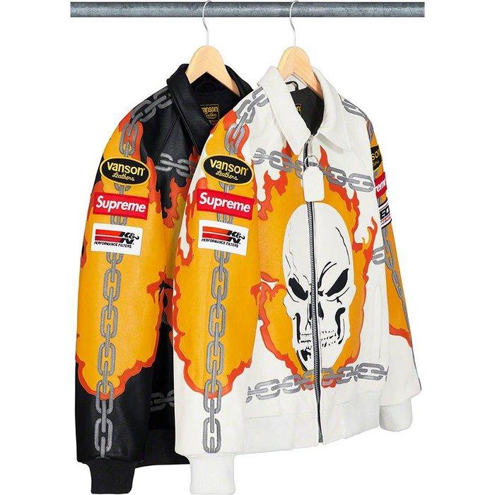 【美國鞋校】預購  Supreme SS19  Vanson Leathers X Ghost Rider Jacket
