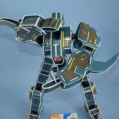 佳廷家庭 親子DIY紙模型3D立體勞作立體拼圖專賣店 機器人裝甲獸 天鷹座 關節可動式 麥克羅伯