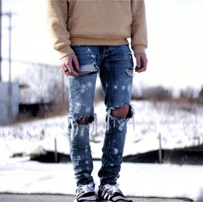 ☆AirRoom☆【現貨】2017SS MNML LA M1 SPLASH DENIM 潑墨 破壞 牛仔褲 丹寧 小賈