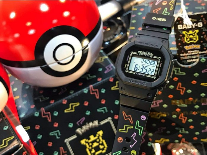 CASIO G-SHOCK Baby-G x Pokemon 寶可夢 聯名 Pikachu 皮卡丘 25週年 紀念 手錶 手表  BGD-560PKC-1 黑色