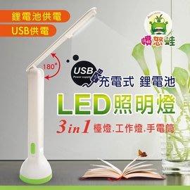 小白的生活工場*【憤怒蛙】USB/插電手電筒/LED檯燈 NL0023