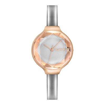 現貨正品-三色入-美國紐約RumbaTime手錶-漆皮寶石切面腕錶 輕熟風 日系 番工錶 閃亮 玫瑰金 女錶