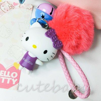 『點鈴』Kitty公仔鈴鐺毛球吊飾掛飾鑰匙圈(現貨)