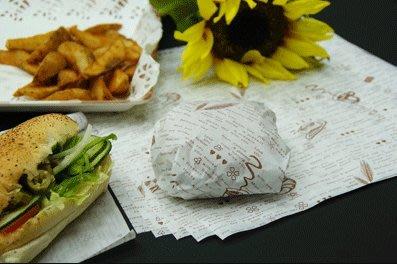 【無敵餐具】漢堡紙(30*30/1000張)工廠自產自銷~品質保證 漢堡/三明治/乳酪條 早餐店/輕食館【GM-02】