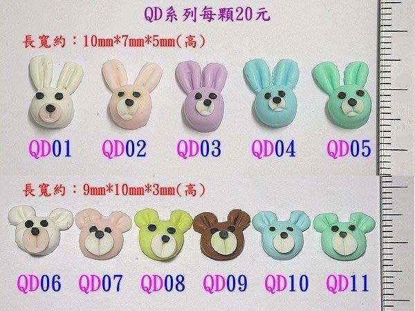 流行教主的最愛~打造您的Q-POT風潮~《日本動物飾品QD系列》~每個20元