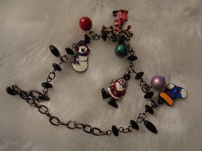 👍現貨 全新ANNA SUI風格水鑽聖誕節慶手鍊👍