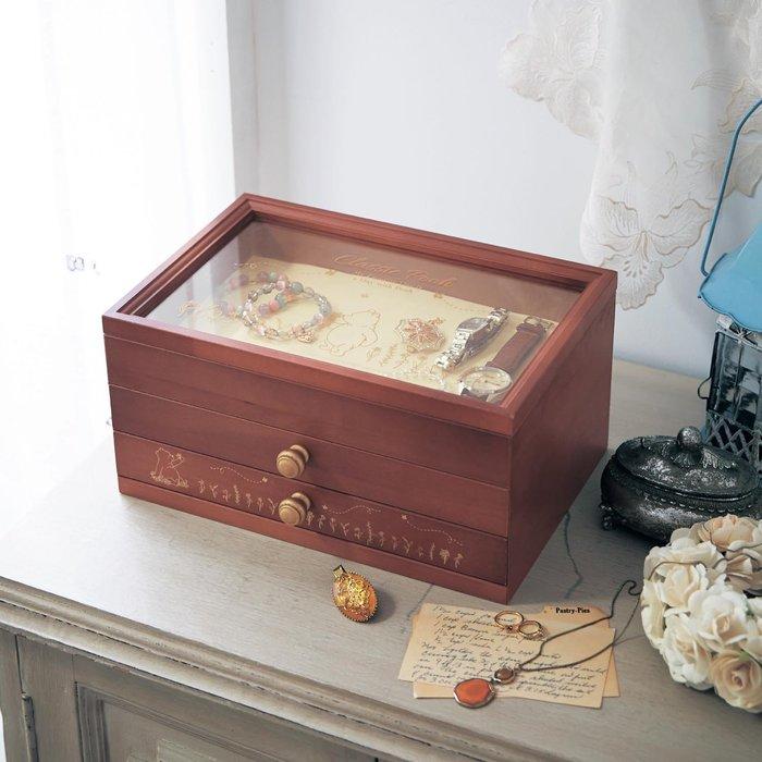 迪士尼Disney 《預購》經典維尼 天然木製首飾盒 珠寶盒 ~日本製~心心小舖