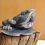 【新社 水晶】烏拉圭 紫水晶 藍玉瓍  蟾蜍  瑪腦小晶洞 重量:1.265kg(實重)