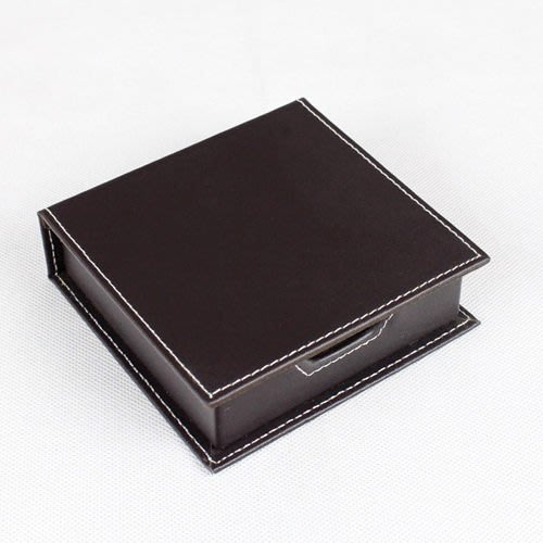5Cgo【批發】含稅會員有優惠 精致高檔皮革便簽盒/座 便條盒/便條座 卡片盒子
