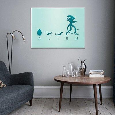 X|設|計 異形聖約Alien 電影海報掛畫POP ART美式藝術風格 裝飾畫版畫家居店面 工作室裝飾畫可定制大小