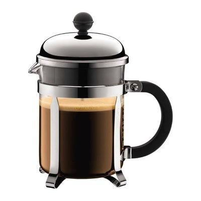 丹麥 Bodum CHAMBORD   4 cup, 0.5L  17oz 法式濾壓壺 法式濾壓咖啡壺 (銀色)